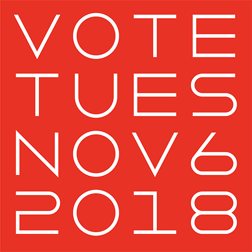 A graphic encouraging viewers to vote on Tuesday November 6, 2018.